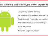 Adroid Gelişmiş WebView Uygulaması Kaynak Kodları
